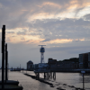 Wilde Wolken an den Docklands
