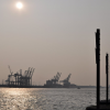 Sonne an den Docklands